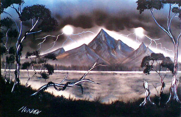 Landscape Painting - Coming Storm by Jonathan Munden