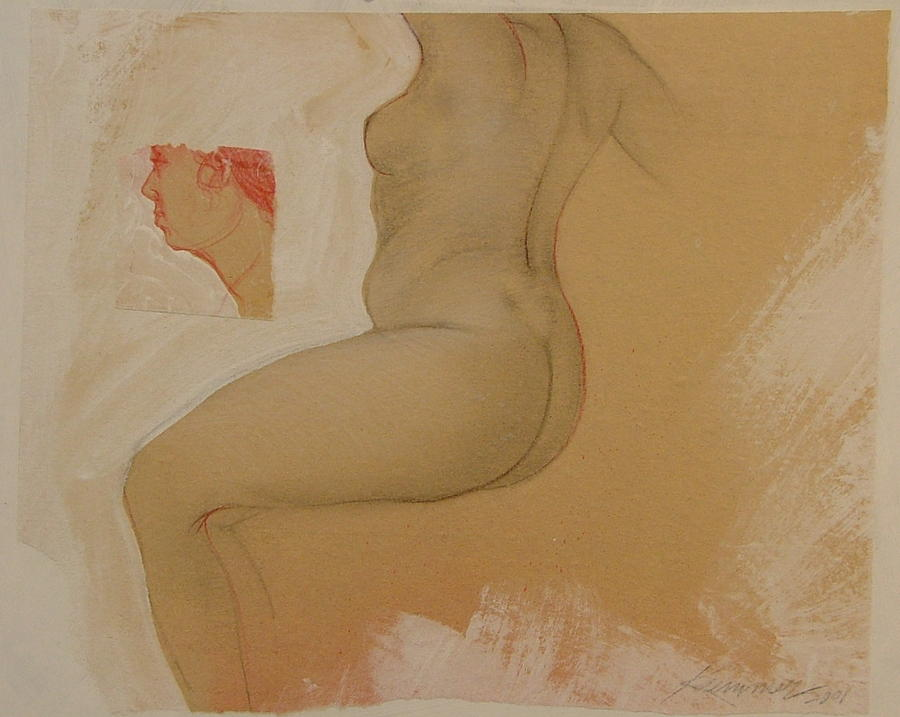 Female Nude Painting - Composite Female Nude by Gary Kaemmer