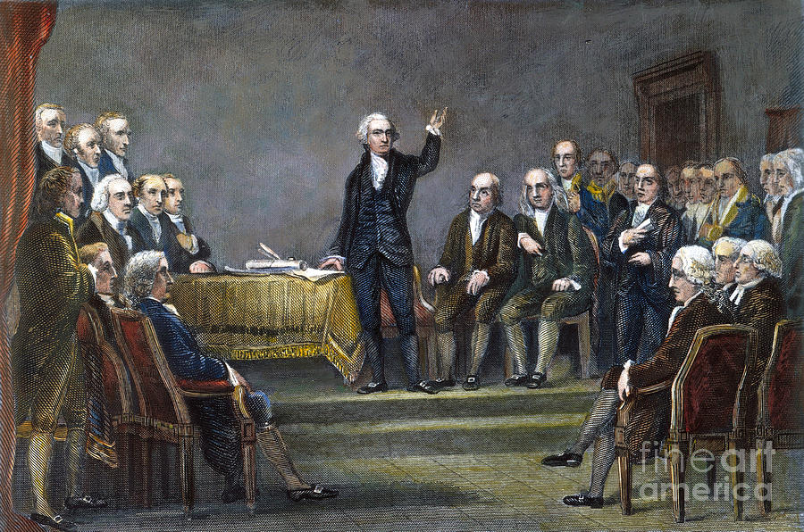 1787 Photograph - Constitutional Convention by Granger