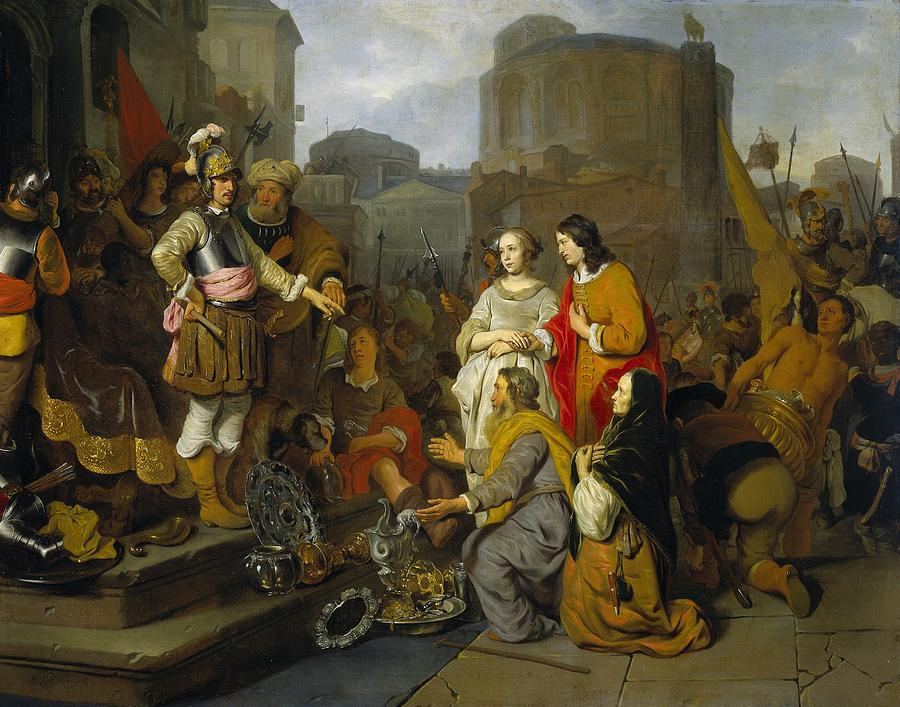 Painting Painting - Continence Of Scipio by Gerbrand van den Eeckhout