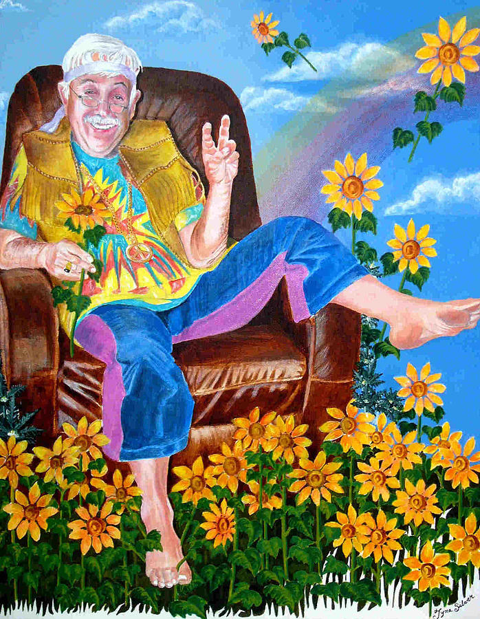 Cool The Armchair Hippie Painting By Tyna Silver