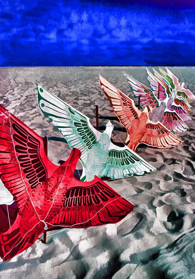 Brazil Photograph - Copacabana Kites by Dennis Cox WorldViews