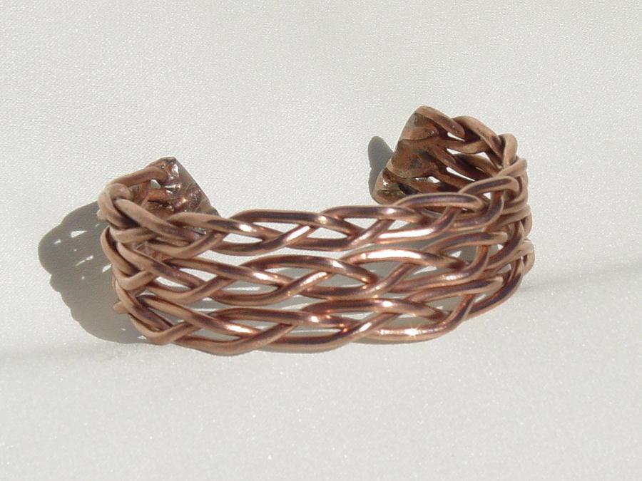 Jewelry Sculpture - Copper Bracelet by Steve Mudge