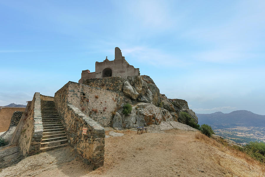 Chapel Photograph - Corbara - Corsica by Joana Kruse