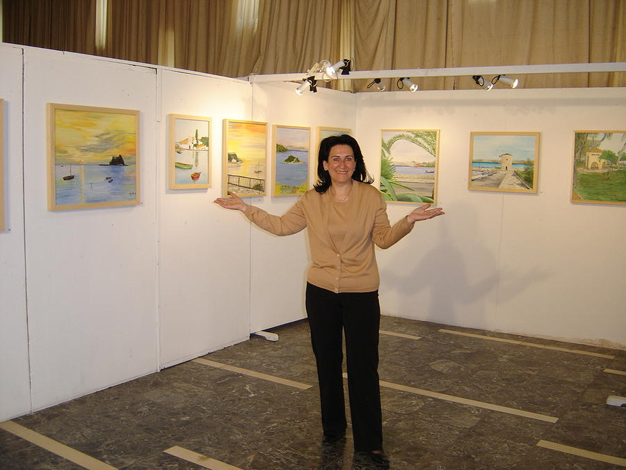 Corfu Town Theatre - Individual Exhubition 2005 Photograph by Anna Witkowska