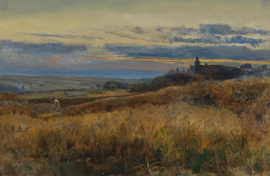 John William Inchbold Painting - Cornfield At Sunset by John William Inchbold