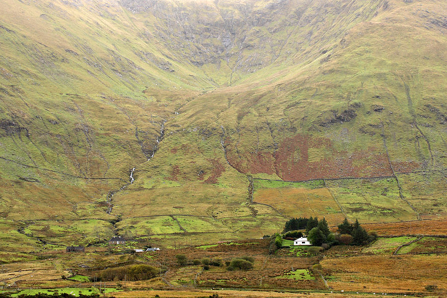 Cottage Photograph - Cottage At The Foothill Of The Colorful Connemara Mountains Ireland  by Pierre Leclerc Photography