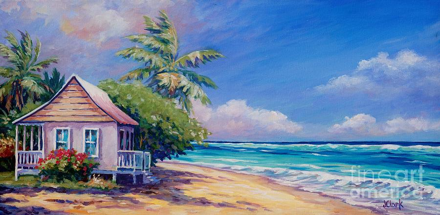 Cottage On The Beach Painting By John Clark