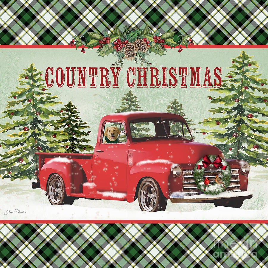 Country Christmas-jp3674 Painting By Jean Plout