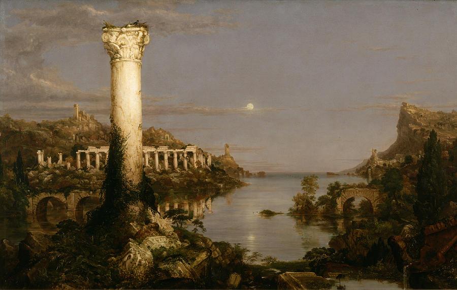 Course Of Empire Desolation by Thomas Cole