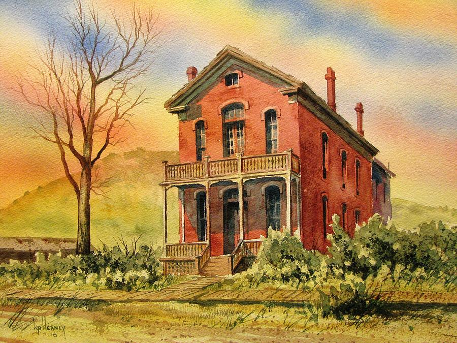 Ghost Town Painting - Courthouse Bannack Ghost Town Montana by Kevin Heaney