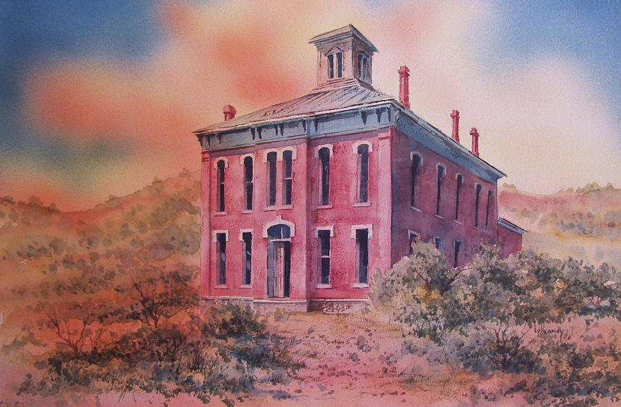 Ghost Town Painting - Courthouse Belmont Ghost Town Nevada by Kevin Heaney