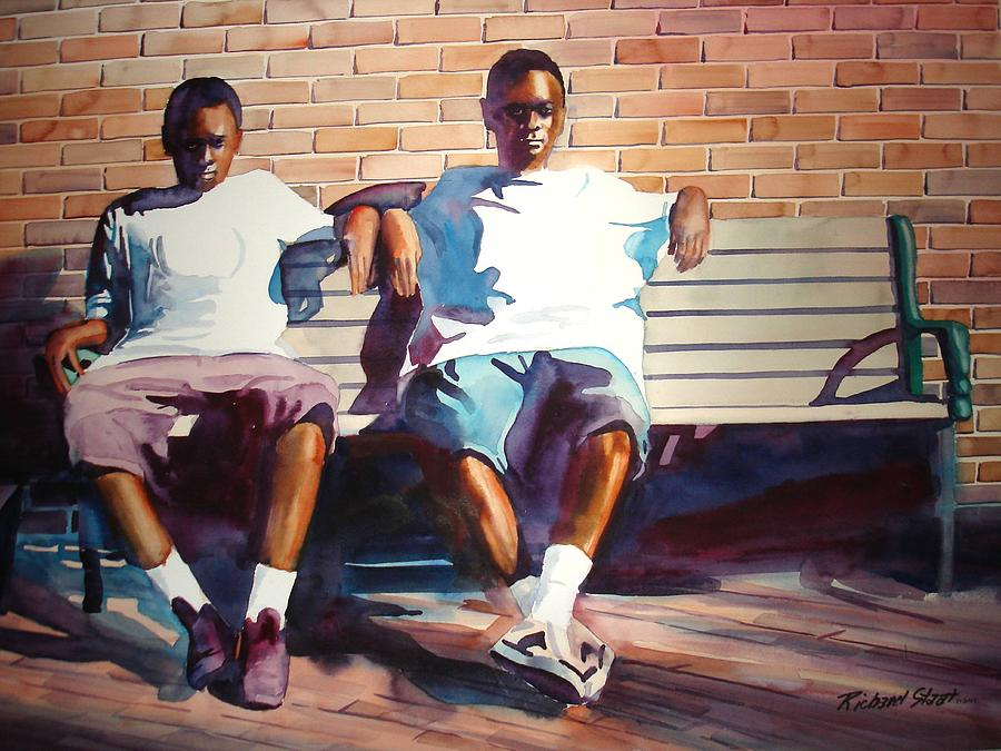 Figure Study Painting - Cousins by Richard Staat