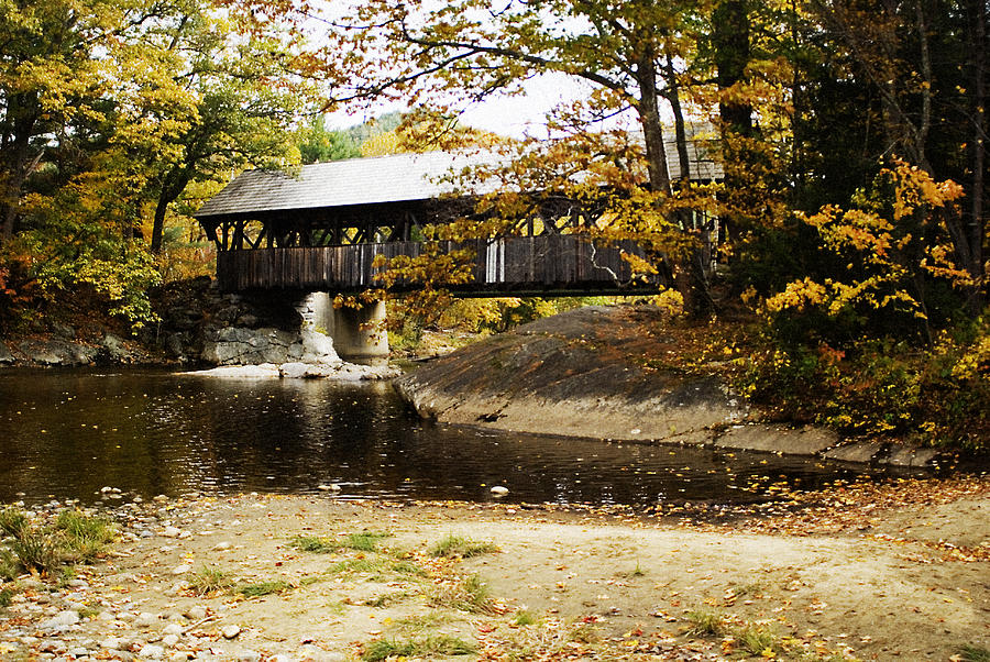 Covered Photograph - Covered Bridge by Rockstar Artworks