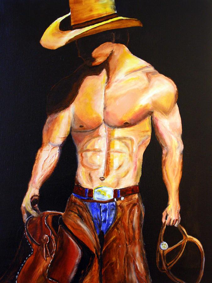 Cowboy Painting - Cowboy  by Jennifer Godshalk