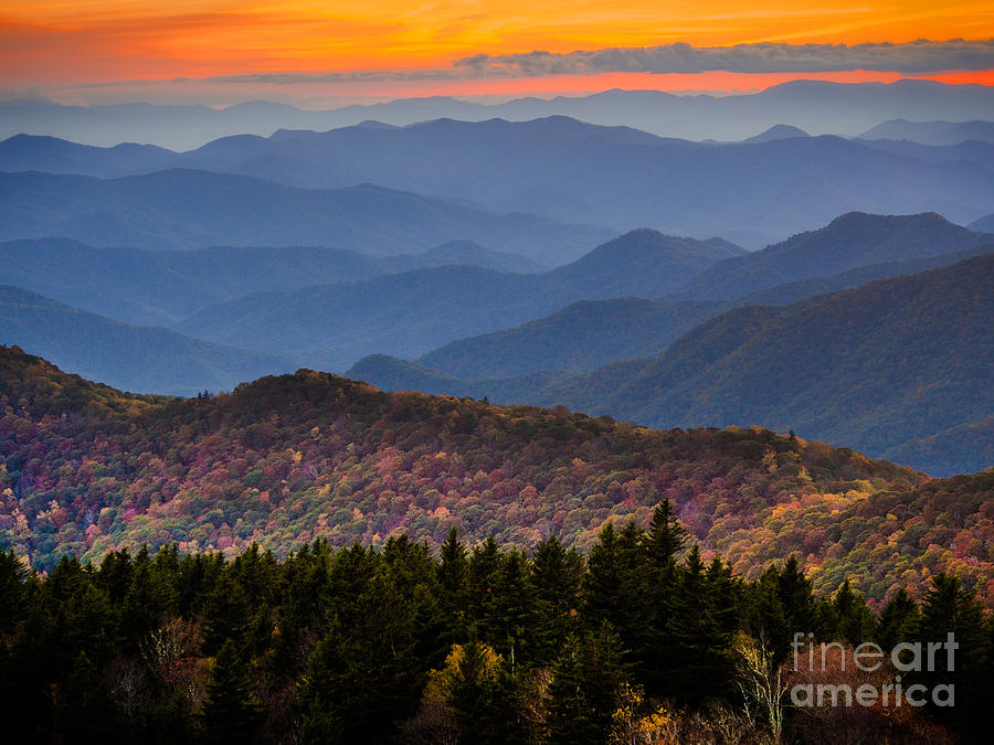 Blue Ridge Parkway Photograph - Cowee Overlook. by Itai Minovitz
