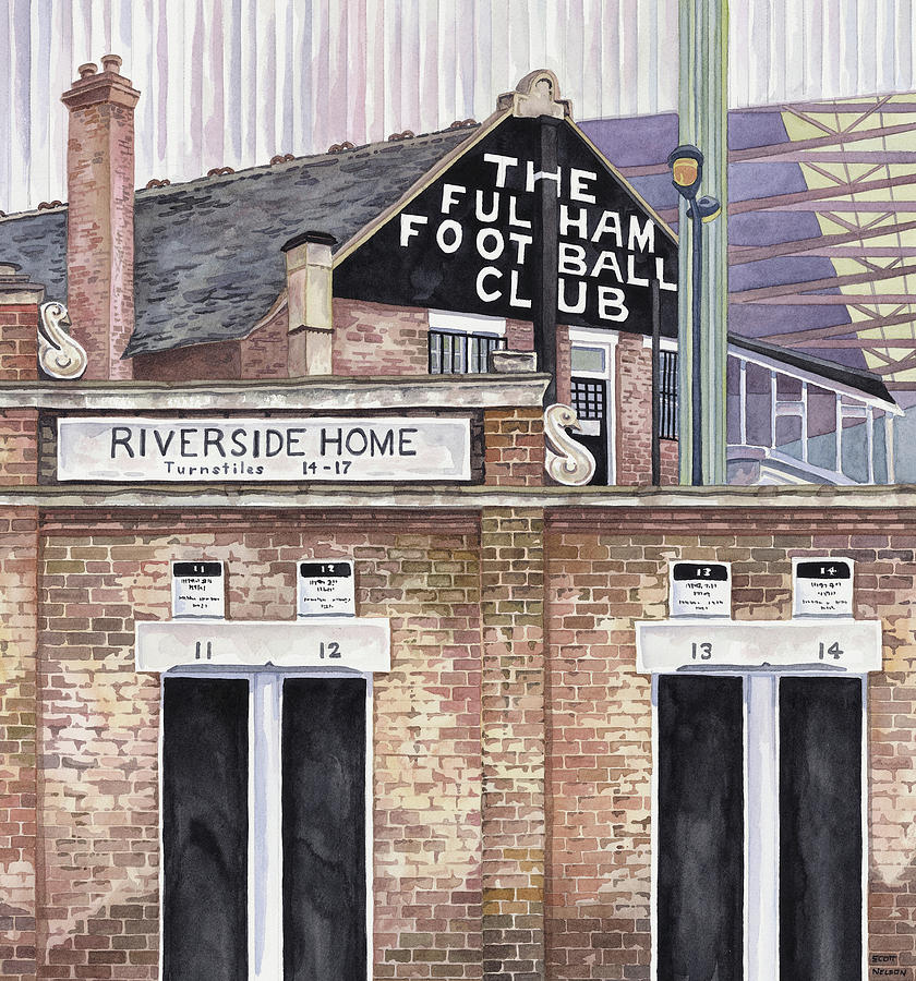 Craven Cottage Painting by Scott Nelson