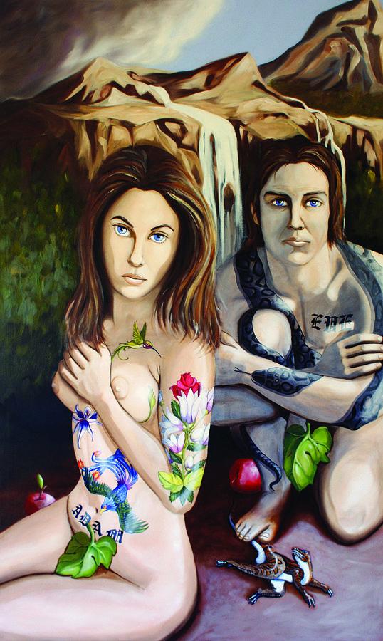 Adam & Eve Painting - Creation by Matthew Lake
