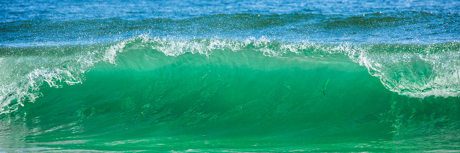 Gods Creation Photograph - Cresting Wave by Paula Porterfield-Izzo