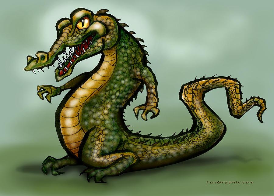 Crocodile Digital Art - Crocodile by Kevin Middleton