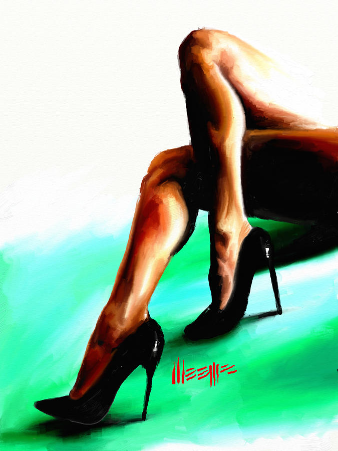 Legs Painting - Crossed by Dillan Weems