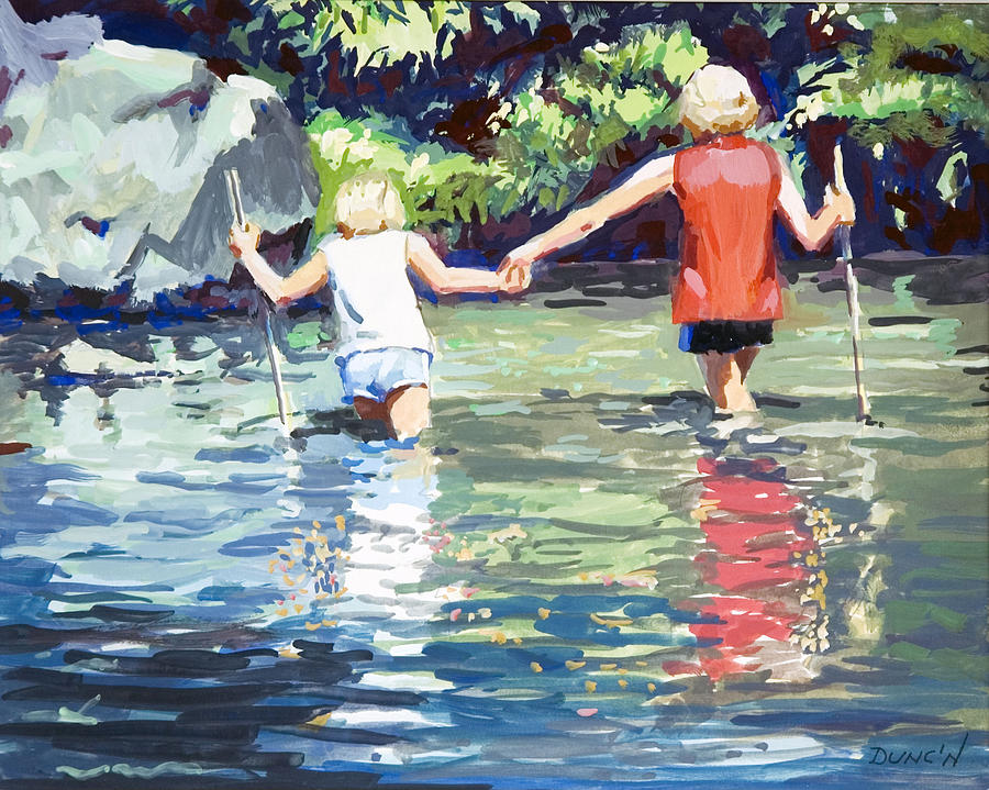 Crossing Painting by Bob Duncan