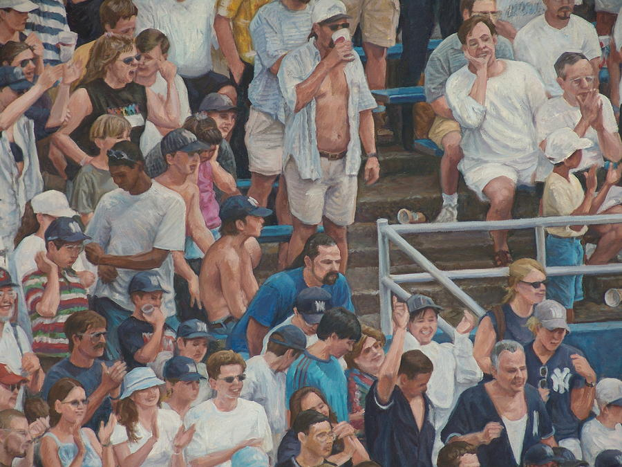 Crowd Scene Painting - Crowd Emotion by James Sparks