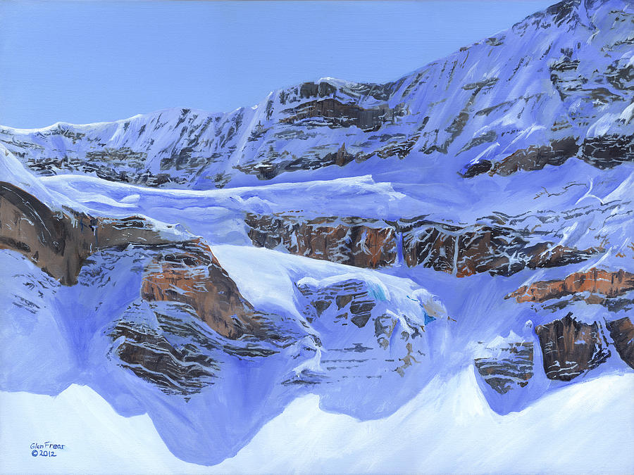 Snow Painting - Crowfoot Glacier by Glen Frear