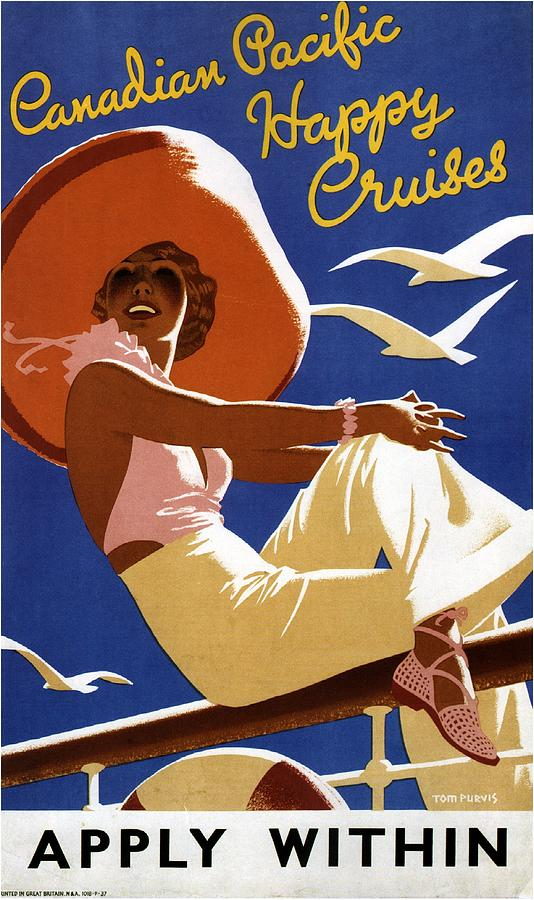 Cruise The Great Lakes - Canadian Pacific - Retro Travel Poster - Vintage Poster Mixed Media