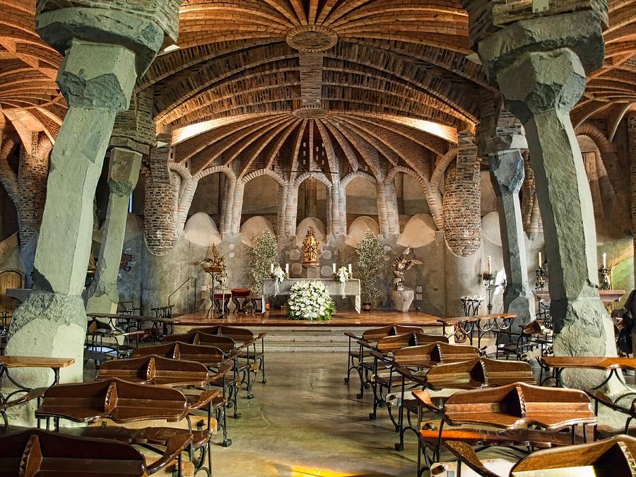 Antoni Gaudi Photograph - Crypt By Antoni Gaudi by Joanna Pechmann