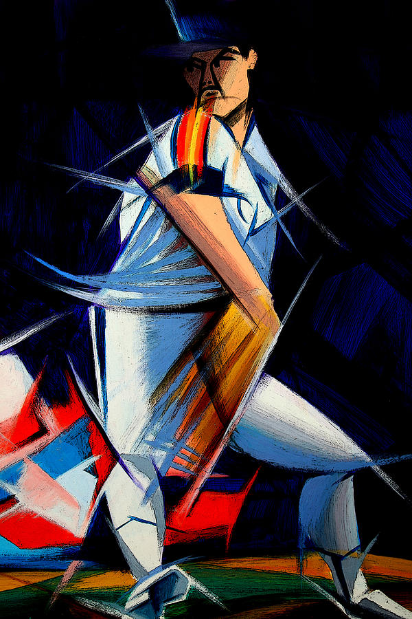 Cubist Houston Astros Player by Delia Bonfilio