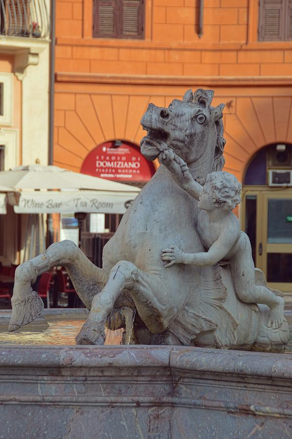 Italy Photograph - Cupid And The Sea-horse by JAMART Photography