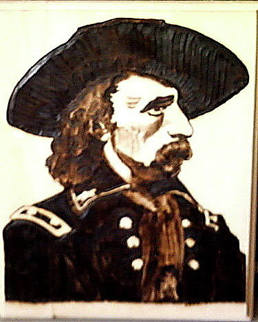Custer Pyrography - Custer by Timothy Wilkerson