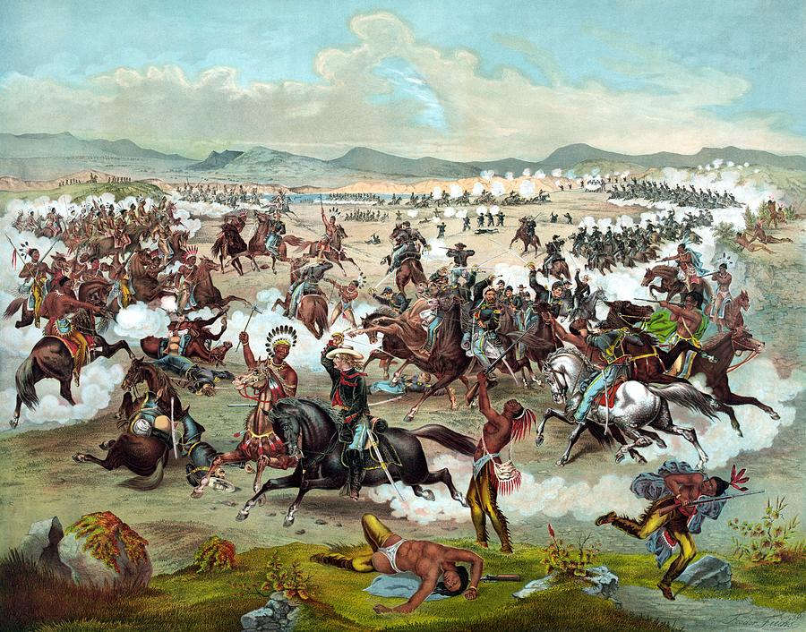 General Custer Painting - Custers Last Stand by War Is Hell Store