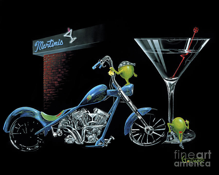 Chopper Painting - Custom Martini by Michael Godard