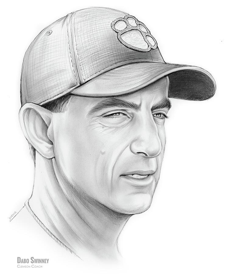 Dabo Swinney Drawing - Dabo Swinney by Greg Joens
