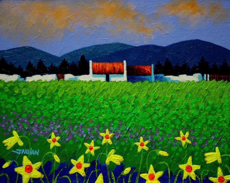 Acrylic Painting - Daffodil Meadow by John  Nolan