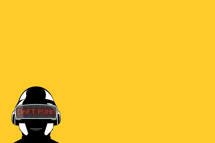 Daft Punk Digital Art by Dorothy Binder