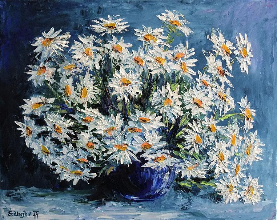 Flowers Painting - Daisies by Stanislav Zhejbal