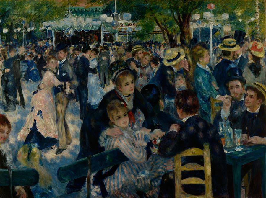 Renoir Painting - Dance At Le Moulin De La Galette  by Auguste Renoir