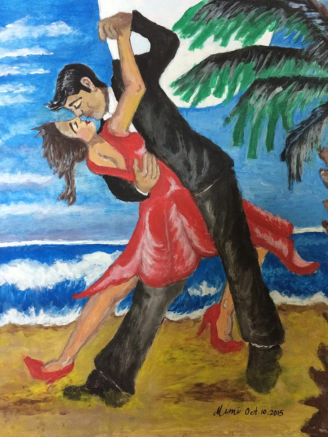Dancers Painting - Dance With Me Make Me Sway by Mimi Eskenazi