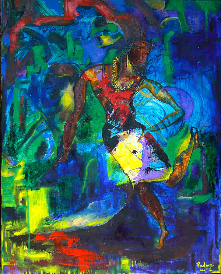 Dancer Painting - Dancer by Padma Prasad