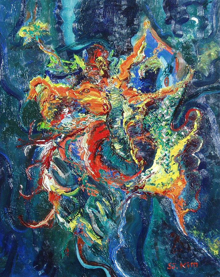 Abstract Paintings Paintings Painting - Dancing Butterflies by Seon-Jeong Kim