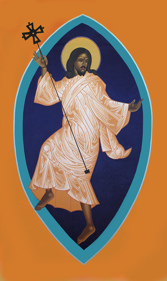 Dancing Saint Icon Painting - Dancing Christ by Mark Dukes