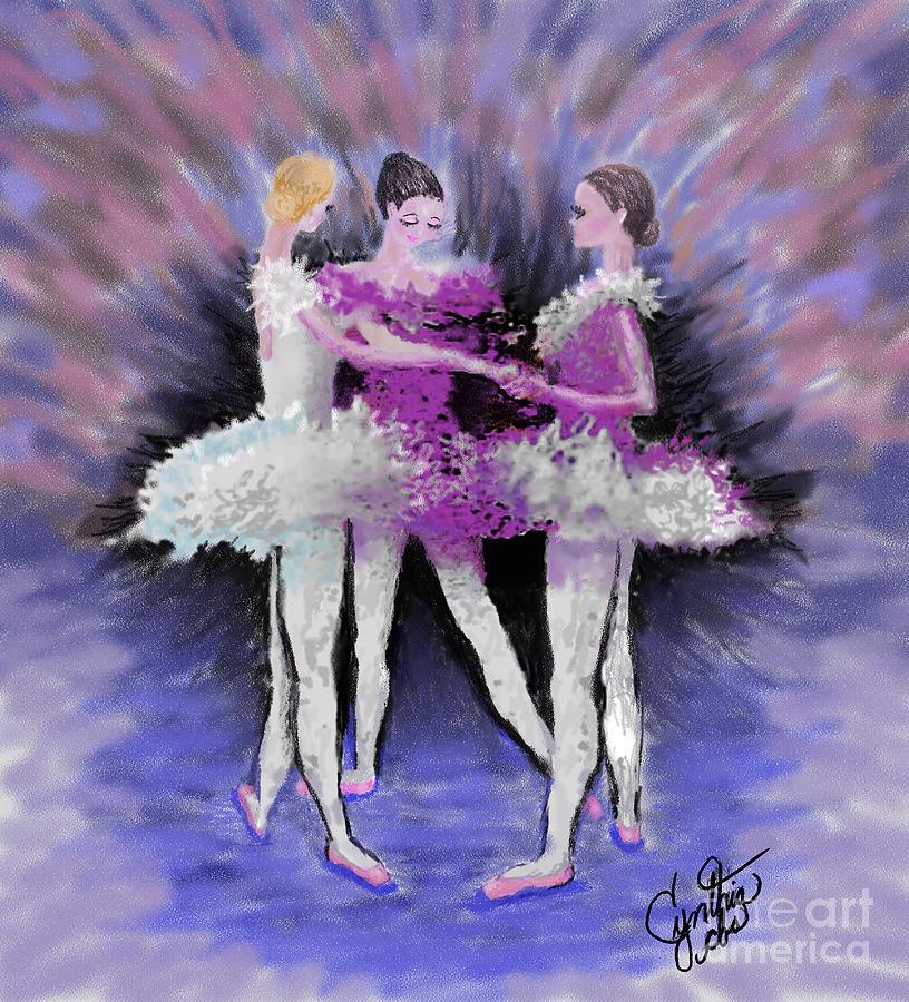 Ballet Dancer Digital Art - Dancing In A Circle by Cynthia Sorensen