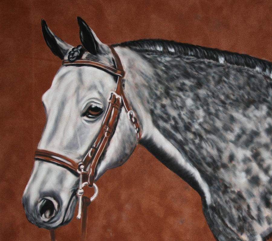 Pastel Painting - Dapple Grey by Lori DeBruijn
