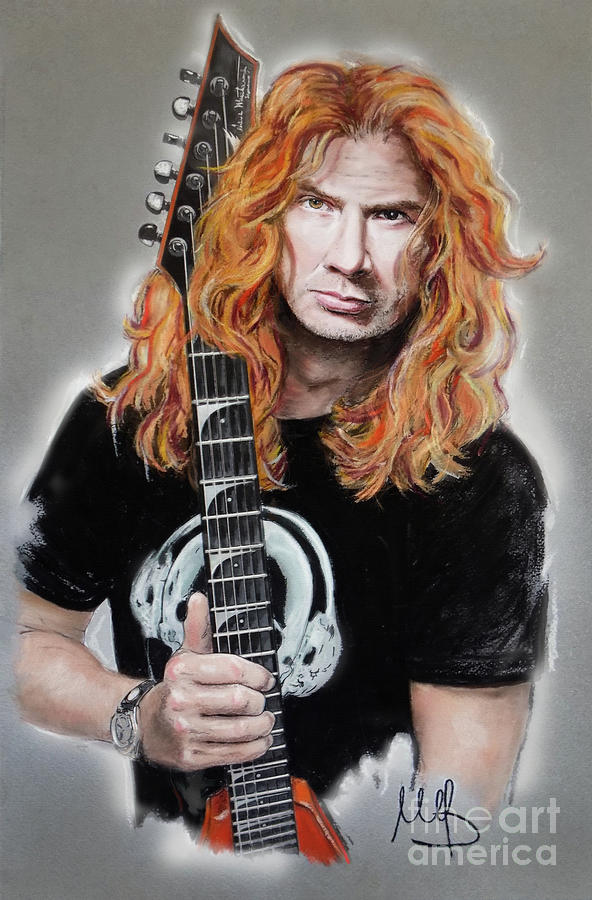 Dave Mustaine Painting - Dave Mustaine by Melanie D