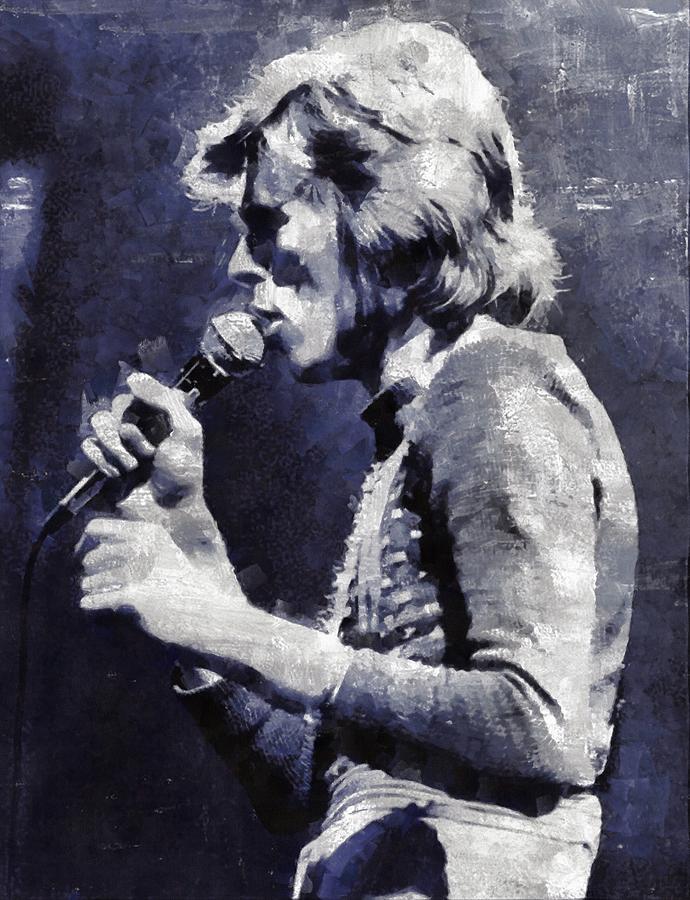 David Painting - David Bowie By Mary Bassett by Mary Bassett