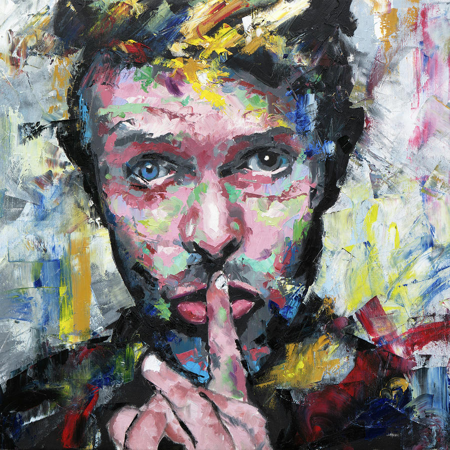 David Bowie Painting by Richard Day