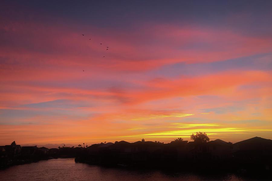 Blue Photograph - Colorful Dawn Of A New Day  by Debra Martz